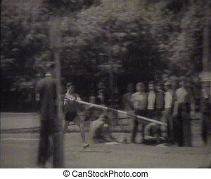 Physical training and sports in the USSR. Newsreel