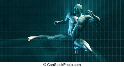 Physical Training for Motivation and Inspiration Art
