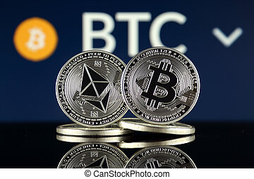 Physical version of Ethereum (ETH) and Bitcoin (BTC). 2 ...