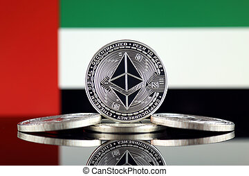 Physical version of Ethereum (ETH) and United Arab Emirates ...
