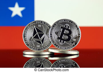 Physical version of Ethereum (ETH), Bitcoin (BTC) and Chile ...