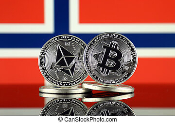 Physical version of Ethereum (ETH), Bitcoin (BTC) and Norway...