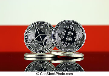 Physical version of Ethereum (ETH), Bitcoin (BTC) and Poland...