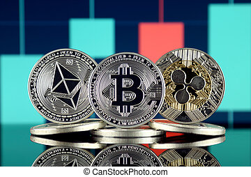 Physical version of Ethereum (ETH), Bitcoin (BTC) and Ripple (XRP). The Top 3 Cryptocurrencies by Market Cap.