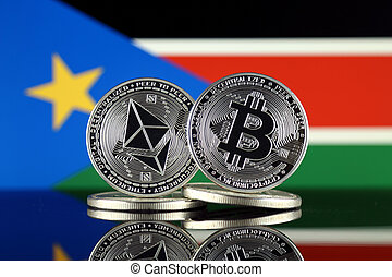 Physical version of Ethereum (ETH), Bitcoin (BTC) and South ...