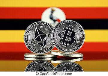 Physical version of Ethereum (ETH), Bitcoin (BTC) and Uganda...