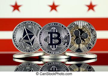 Physical version of Ethereum (ETH), Bitcoin (BTC), Ripple (...