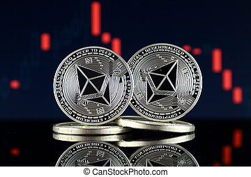 Physical version of Ethereum (ETH). Conceptual image for ...