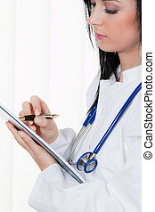 Physician diagnosis in the hospital and medical records