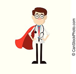 Physician Doctor - In Super Hero Costume