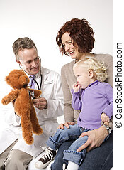 Physician with child.