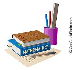 Physics and Mathematics Textbooks with Stationery