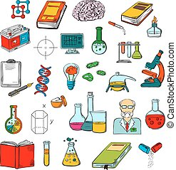 Physics Chemistry Medicine Science Research Icon