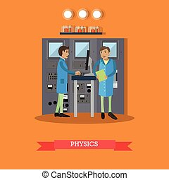 Physics concept vector illustration in flat style