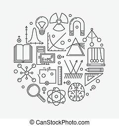 Physics round illustration