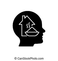 Physiological motivation black glyph icon. Satisfy basic human needs. Hunger and tiredness. Will to survive. Physical and mental health. Silhouette symbol on white space. Vector isolated illustration