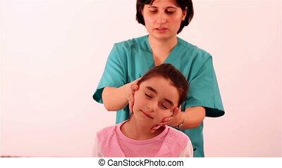 physiothérapie, cervical, problèmes