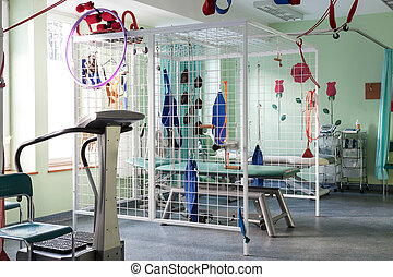 physiothérapie, chambre hôpital