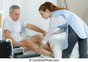 physiothérapie, moderne, rééducation