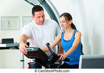 physiothérapie, thérapie physique patiente