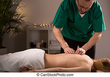 Physiotherapist in beauty resort