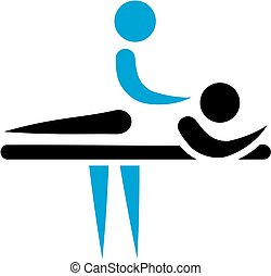 Physiotherapist masseur icon