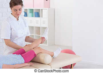 Physiotherapy and child patient