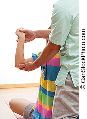 Physiotherapy exercises - Physiotherapist showing exercises...