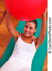 physiotherapy exercises with bobath ball fitball
