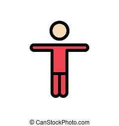 physiotherapy flat color icon