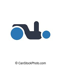 physiotherapy glyph color icon