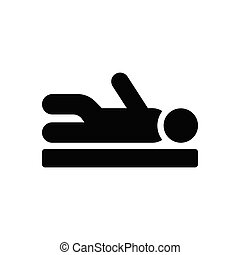 physiotherapy glyph flat icon