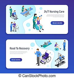 Physiotherapy Isometric Banners