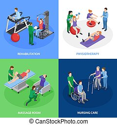 Physiotherapy Rehabilitation Isometric Concept