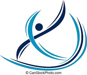 Physiotherapy Treatment Logo Design Template Vector