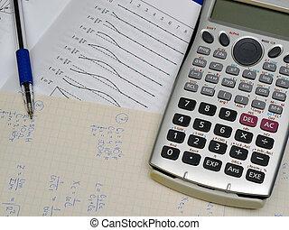 physique, calculs, manuel