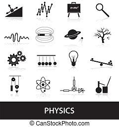 physique, ensemble, eps10, icônes