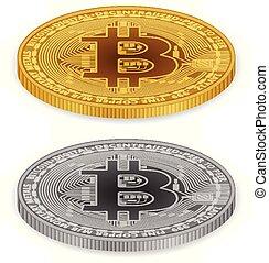 pièces, bitcoin
