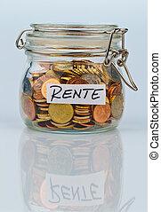 pièces, flash, approvisionnement, pension