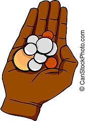 pièces, main