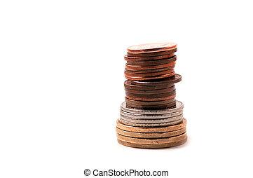 pièces, tas, canadien