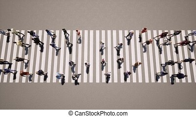 piéton, concept, affaires gens, transition, zebra