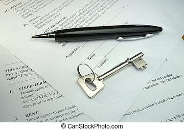 pióro, kontrakt, klucz