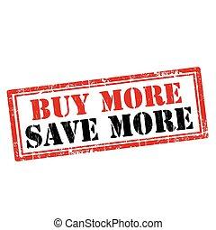 più, più, comprare, risparmiare