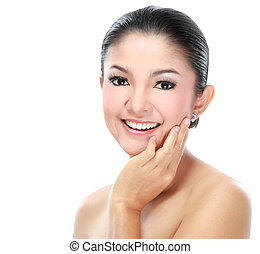 piękna kobieta, asian twarz
