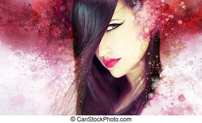 piękna kobieta, dzieło