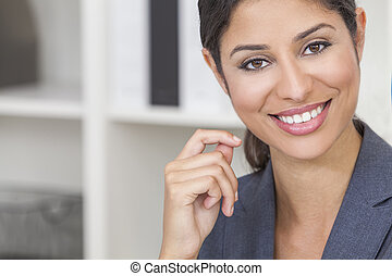 piękna kobieta, kobieta interesu, hispanic, latina, albo