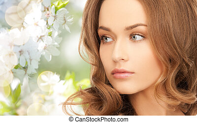 piękna kobieta, młody, twarz