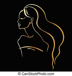 piękna kobieta, portrait.