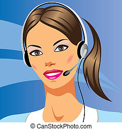 piękna kobieta, słuchawki